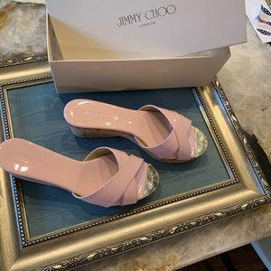 Jimmy Choo pink platforms